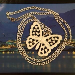 Vintage Butterfly Necklace